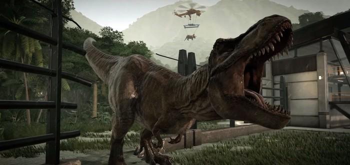 Jurassic World Evolution получила дату релиза и новый трейлер