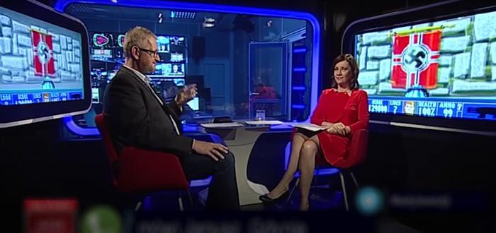 В эфире польского ТВ кто-то запустил Wolfenstein