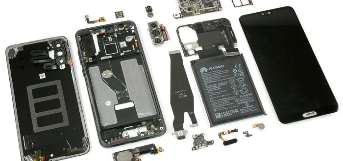 Вскрытие и разбор Huawei P20 Pro