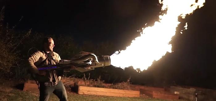Самодельный огнемет-торнадо обойдется дешевле огнемета Маска