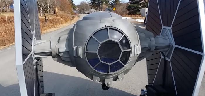 Фанат Star Wars собрал рабочий электрический TIE Fighter