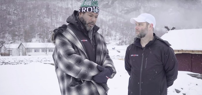 Кори Барлог и актер Кратоса из God of War прогулялись по заснеженной Норвегии