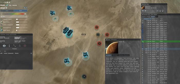 CCP рассказала об изменениях планетарного интерфейса EVE Online