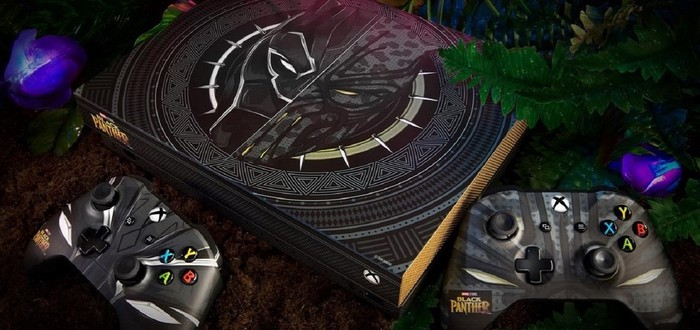 Xbox One X c дизайном Чёрной Пантеры