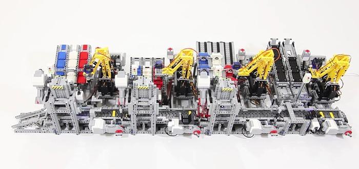 Из Lego сделали фабрику по сбору автомобилей