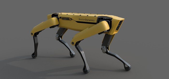 Четвероногий робот Boston Dynamics научился бродить по офису
