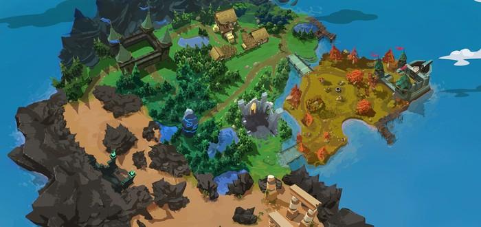 Концепт-арт карты для королевской битвы в Battlerite