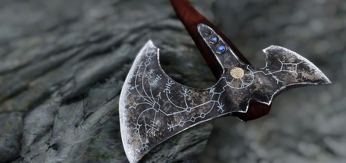 Мод добавляет топор Кратоса в Skyrim
