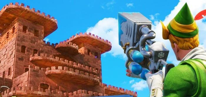 """AT-AT из """"Звездных Войн"""" и огромная пирамида — что строят игроки Fortnite в режиме Playground"""