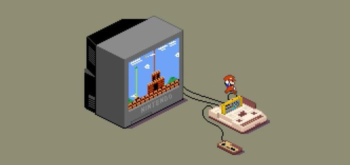 Пикселястые GIF-диорамы классических японских игр