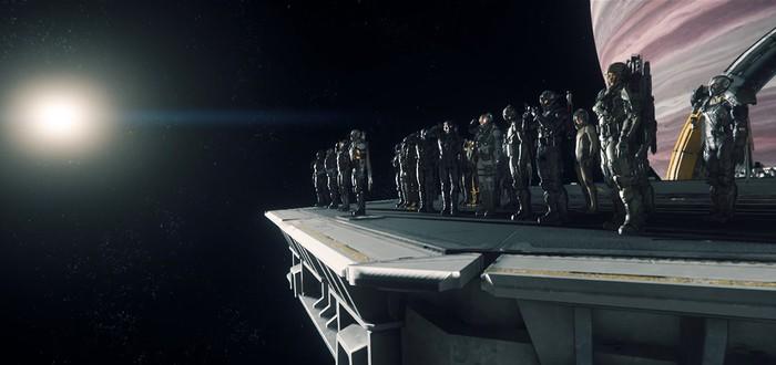 Видео битвы Star Citizen на 50 человек