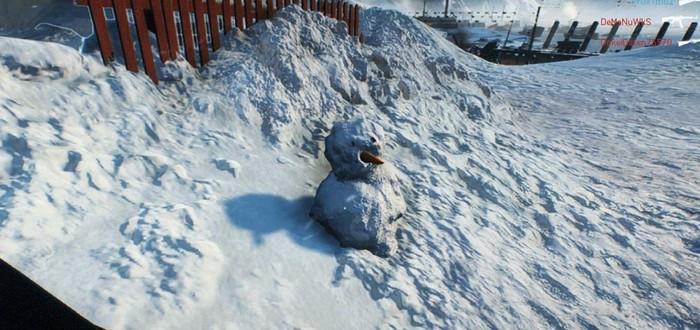 В Battlefield V можно слепить снеговика