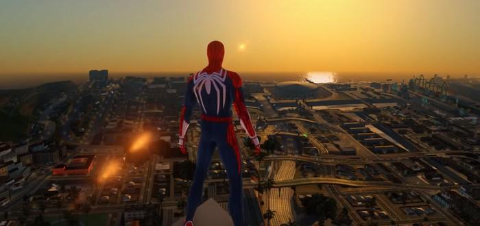 Человека-паука отправили в GTA San Andreas с помощью модов