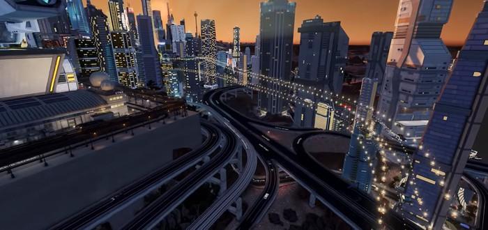 Мод Cities: Skylines позволяет строить киберпанковый город будущего