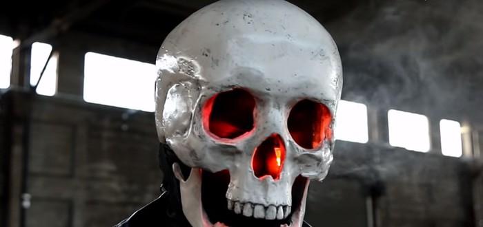 Умелец изготовил маску Призрачного Гонщика с вейпом внутри
