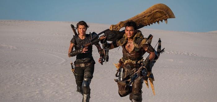 Милла Йовович и Тони Джаа с холодным оружием на новом фото экранизации Monster Hunter