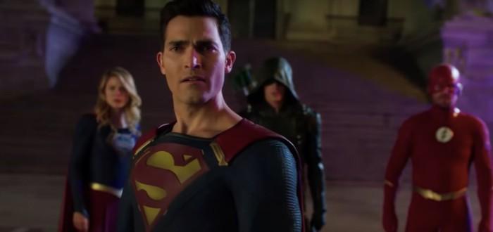 Супермен в черном костюме и Анти-монитор — новый тизер кроссовера сериалов CW