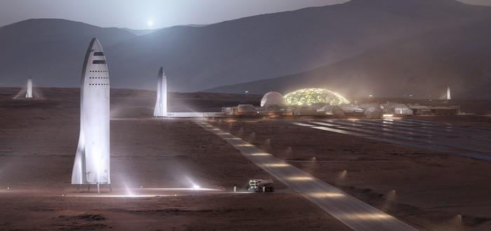 Илон Маск поделился новым концепт-артом космического корабля Starship