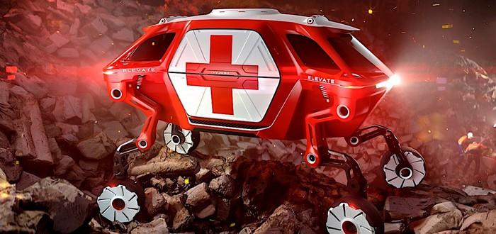 Hyundai представила концепт четырехногого спасательного авто