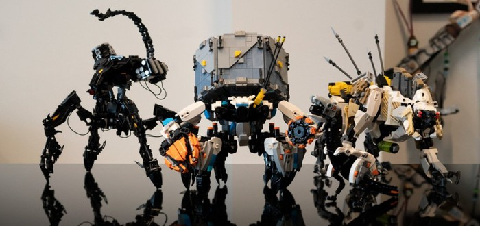 Фанат Horizon Zero Dawn собрал модели рободинозавров из LEGO
