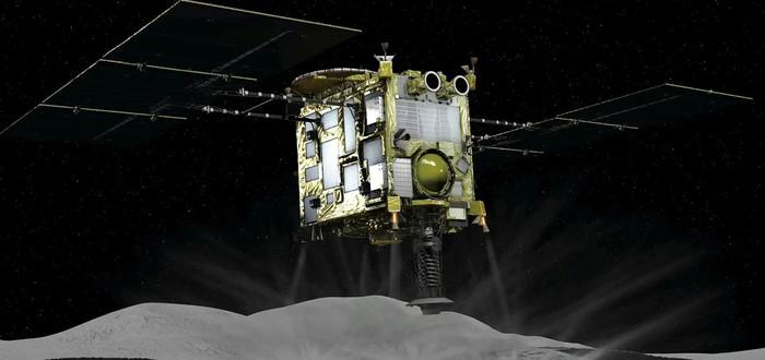Посмотрите, как японский аппарат Hayabusa2 стреляет по астероиду