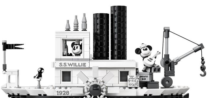 Steamboat Willie — черно-белый набор LEGO с Микки-Маусом в честь 90-летия