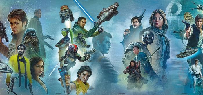 """Вся сага """"Звездных войн"""" на одной картине"""