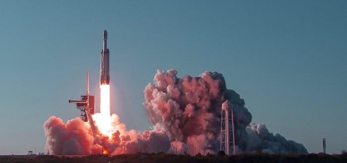 SpaceX потеряла в море центральную ступень ракеты Falcon Heavy