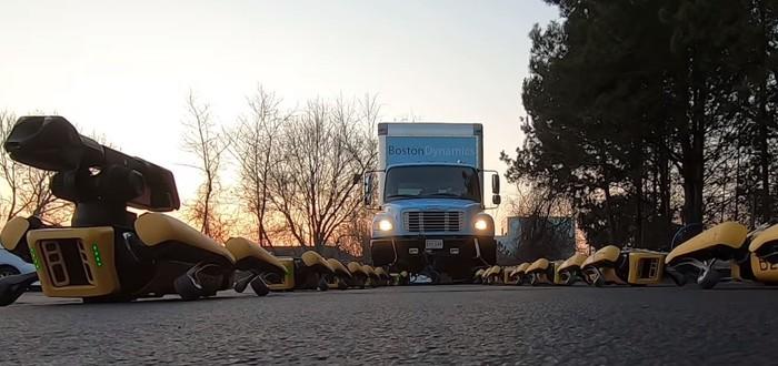 Роботы SpotMini научились буксировать грузовики