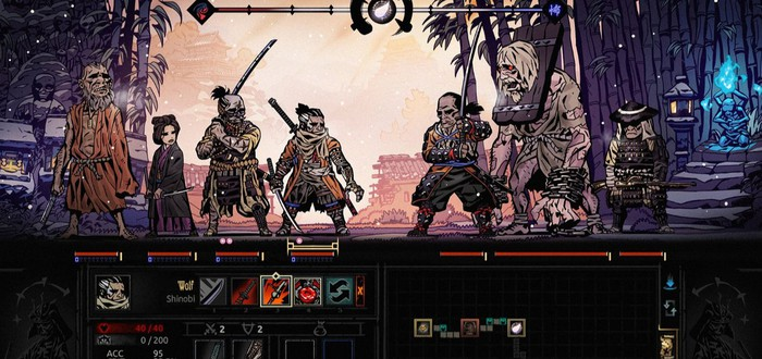 Фан-арт Sekiro: Shadows Die Twice в стиле Darkest Dungeon