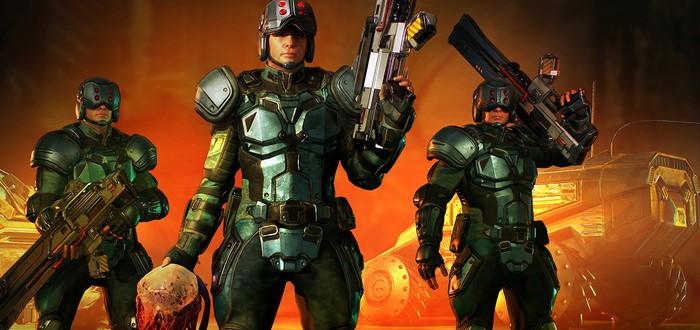 Группа солдат ликвидирует мутантов в геймплейном отрывке Phoenix Point
