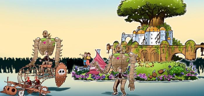 Детали тематического парка в Японии от Studio Ghibli