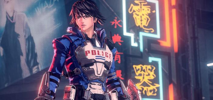 E3 2019: Борьба с огромным боссом в городе будущего в геймплее слэшера Astral Chain