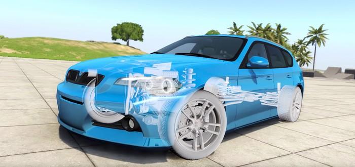 Новое техно-видео BeamNG.drive представляет физику мягких тел и эффекты деформации на авто