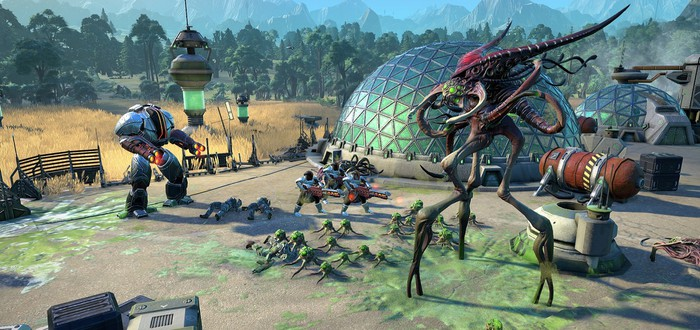 Тактическое сражение между Ассамблеей и Авангардом в геймплейном ролике Age of Wonders: Planetfall
