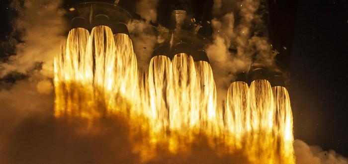 Прямой эфир с третьего запуска ракеты Falcon Heavy