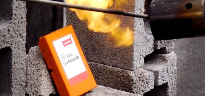 Innodisk представила SSD, выдерживающий температуру до 800°C и открытый огонь