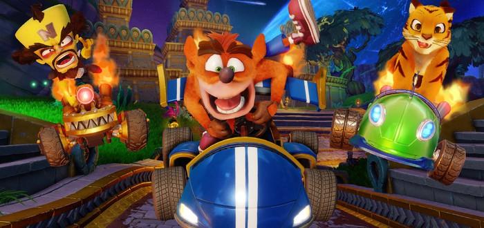 Спайро, малыш Крэш и другие персонажи могут появиться в Crash Team Racing Nitro-Fueled