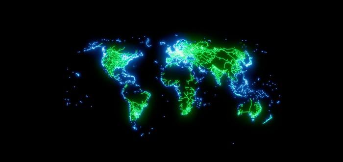 Глобальные связи. Художник создал 5 карт транспортной системы Земли