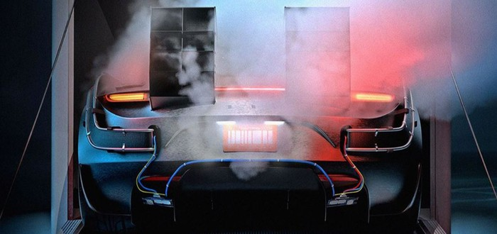 """Художник нарисовал Tesla Roadster X для """"Назад в будущее"""""""