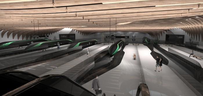 Вот так могут выглядеть будущие станции Hyperloop