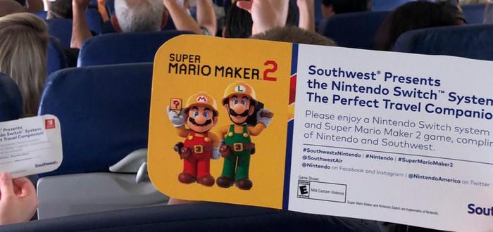 Nintendo подарила Switch и Super Mario Maker 2 пассажирам самолетов в Сан-Диего, где пройдет Comic-Con