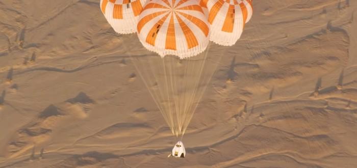 SpaceX показала испытания парашютов капсулы Crew Dragon