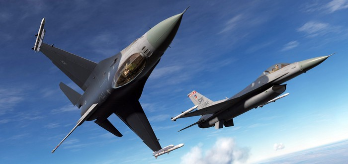 Полеты над полем боя на легендарном истребителе в трейлере DCS: F-16C Viper