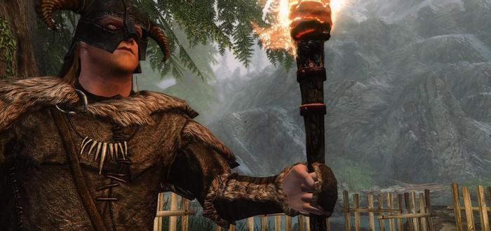 Ютубер прошел Skyrim, используя факел и суп