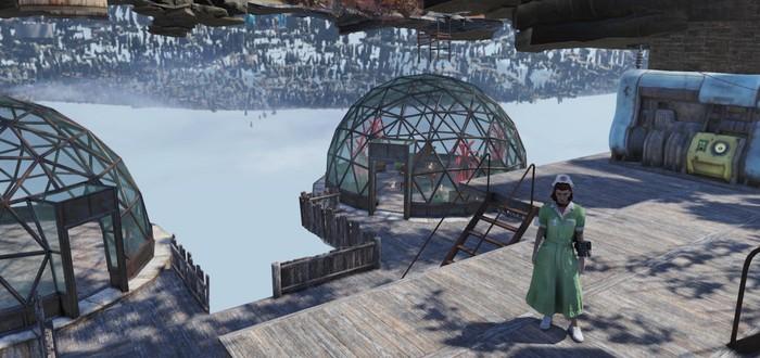 Девушка воспользовалась глитчем в Fallout 76 и создала лагерь под картой