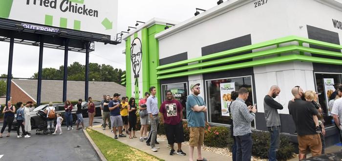 Экспериментальная растительная курица KFC была полностью распродана за пять часов