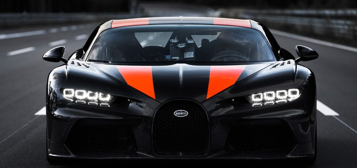 Bugatti Chiron разогнали почти до 500 км/ч