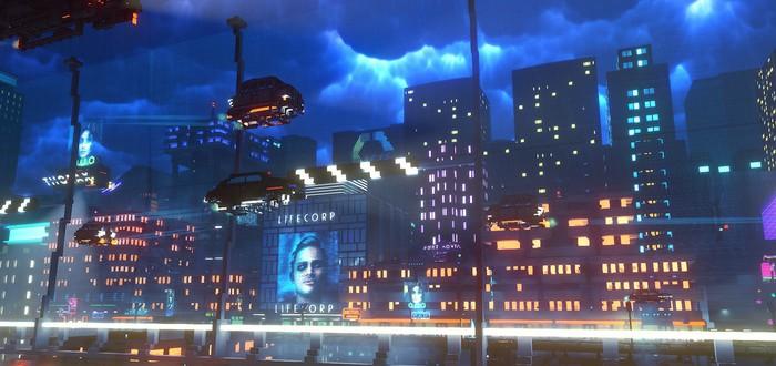 Новый трейлер Cloudpunk демонстрирует ночного курьера в городе будущего