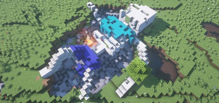 В Minecraft новый тренд — игроки строят гигантских скелетов